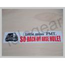Classic Mini decal - Little Miss PMT