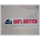 Classic Mini Decal - 100% British