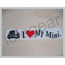 Classic Mini Decal  - I love my mini