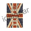 Keep Calm & Mini On Canvas Print