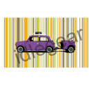 Purple Mini and Trailer Canvas Print