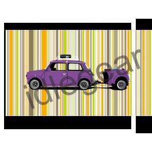 Purple Mini and Trailer Canvas Print