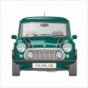 CLASSIC MINI ITALIAN JOB LIMITED EDITION GREEN VERSION PRINTED CUSHION