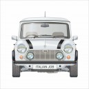 Classic Mini Italian Job Limited Edition White Printed Cushion