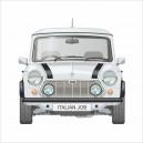 Classic Mini Italian Job Limited Edition White Printed Cushion