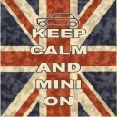 Classic Mini Keep Calm & Carry On Printed Cushion