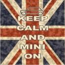 Classic Mini Keep Calm & Carry On Printed Cushion