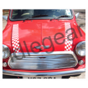 Classic Mini Cut Chequered Bonnet Stripes