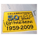 Classic Mini Metal Sign 50 years of ....